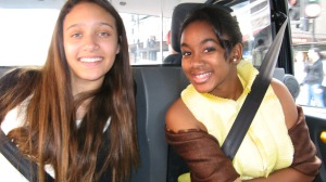 The girls on the way to dinner/theatre